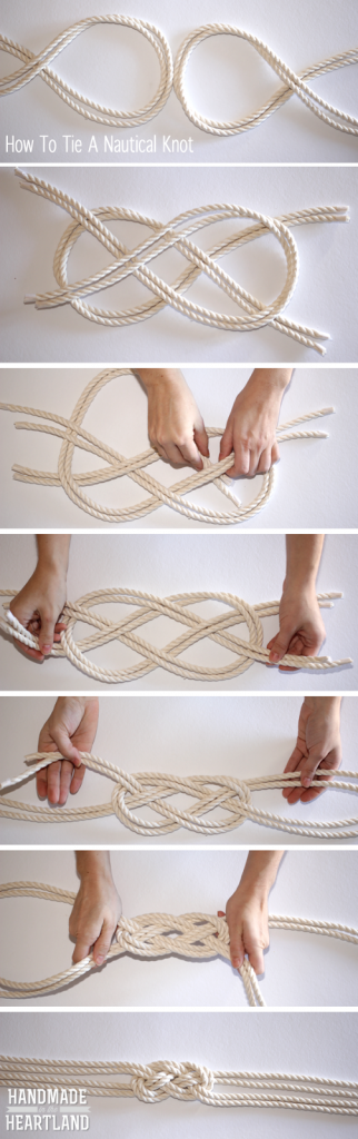 Step by step how to tie a nautical knot