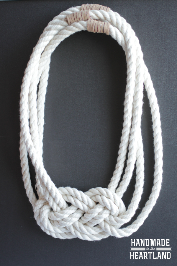 Image of Nautical Knot Rope Necklace