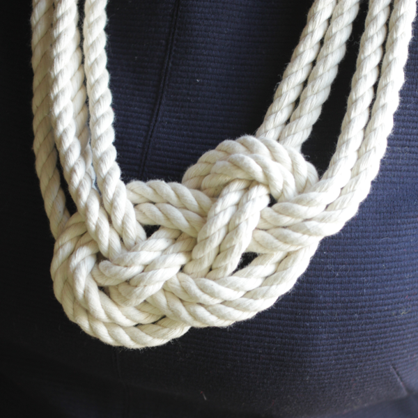 Nautical Knot Rope Necklace Tutorial