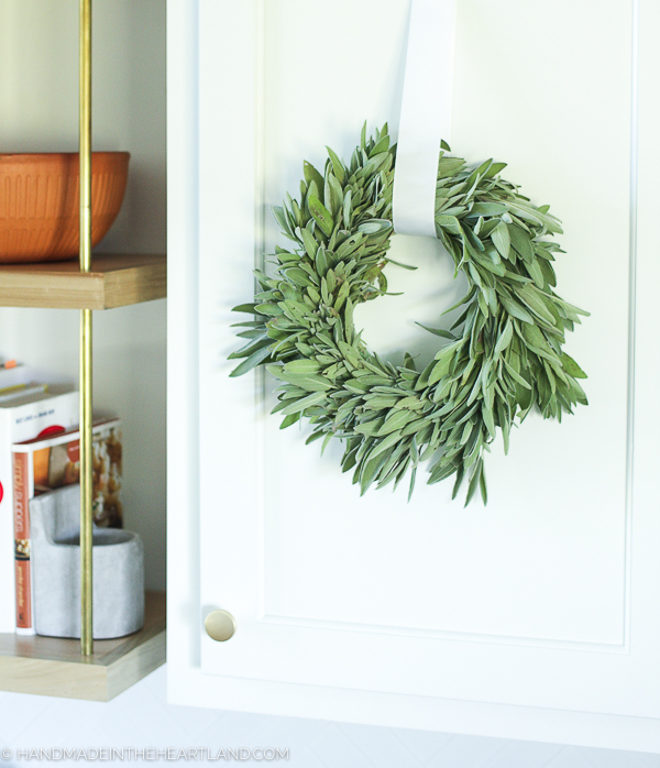 fresh sage wreath to use for cooking