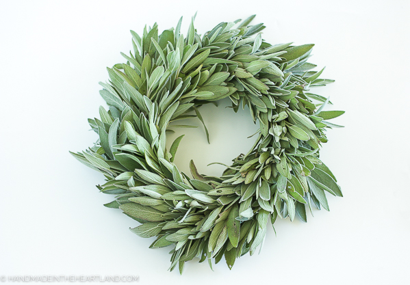 fresh sage wreath