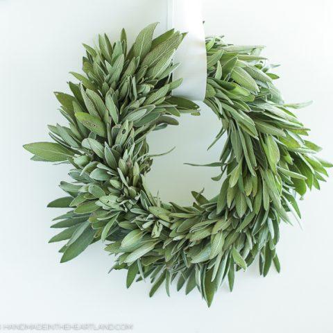 preserve fresh sage with a diy wreath
