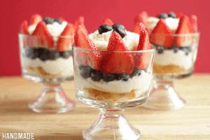 Strawberry, Blueberry & Cream Trifle