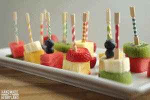 Summer Fruit Kabobs & Dip with DIY Washi Tape Toothpicks
