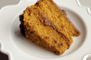 Pumpkin Cake with Milk Chocolate Icing
