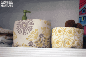 Quilted Fabric Baskets for Organization