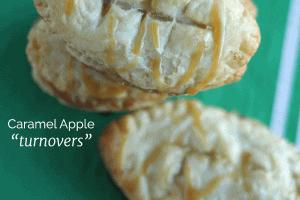 Football Caramel Apple Turnovers
