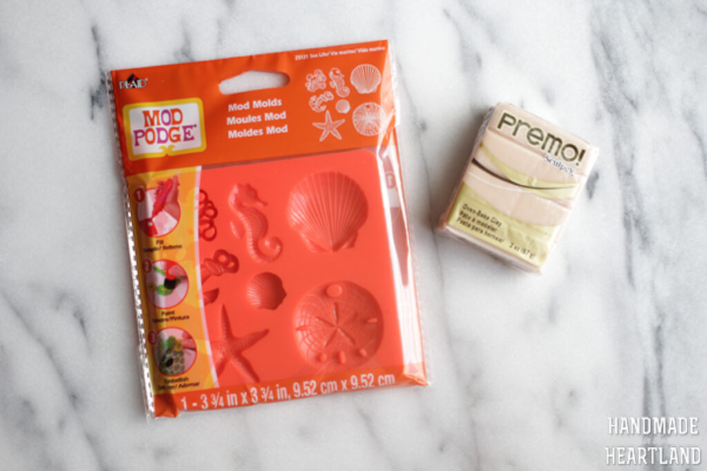 Sculpey polymer clay silicon mold and clay