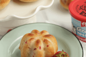 Strawberry Yogurt Muffins