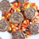 Chocolate Peanut Butter Spider Web Crackers