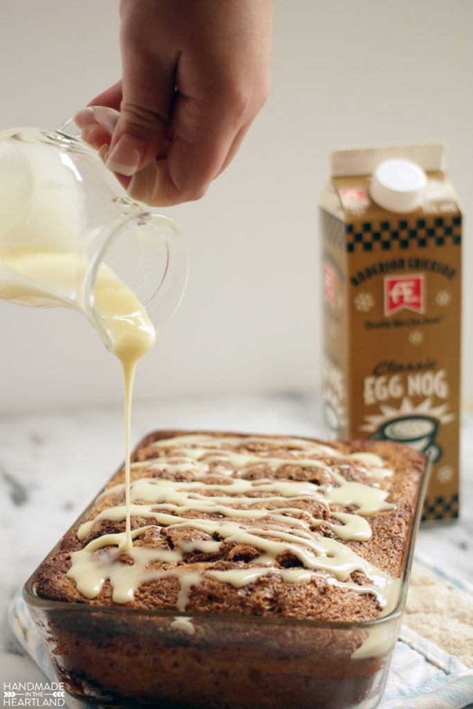 delicious and easy eggnog cinnamon bread