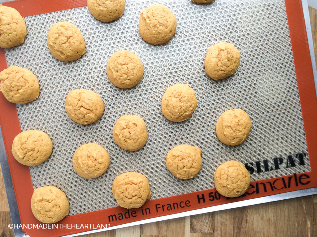 Cookies baked on a Silpat nonstick baking liner