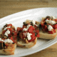 Mushroom, Caramelized Onion & Tomato Bruschetta