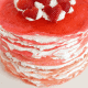 Valentine Strawberry Crepe Cake