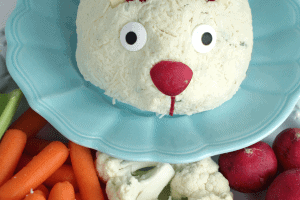 Easter Bunny Cheeseball, Jalapeno Bacon Cheeseball