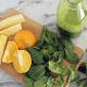 Orange, Pineapple & Spinach Fresh Juice
