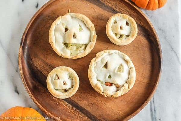 Jack O Lantern Chicken Pot Pie