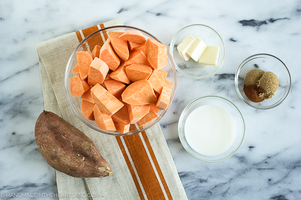 sweet potato casserole made with fresh sweet potatoes