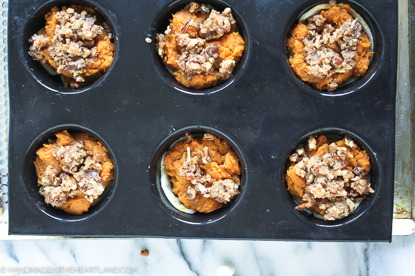sweet potato casserole muffing cups