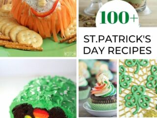 Collage image of multiple different foods for St.Patrick's day
