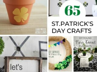 collage image of st.patrick's day crafts
