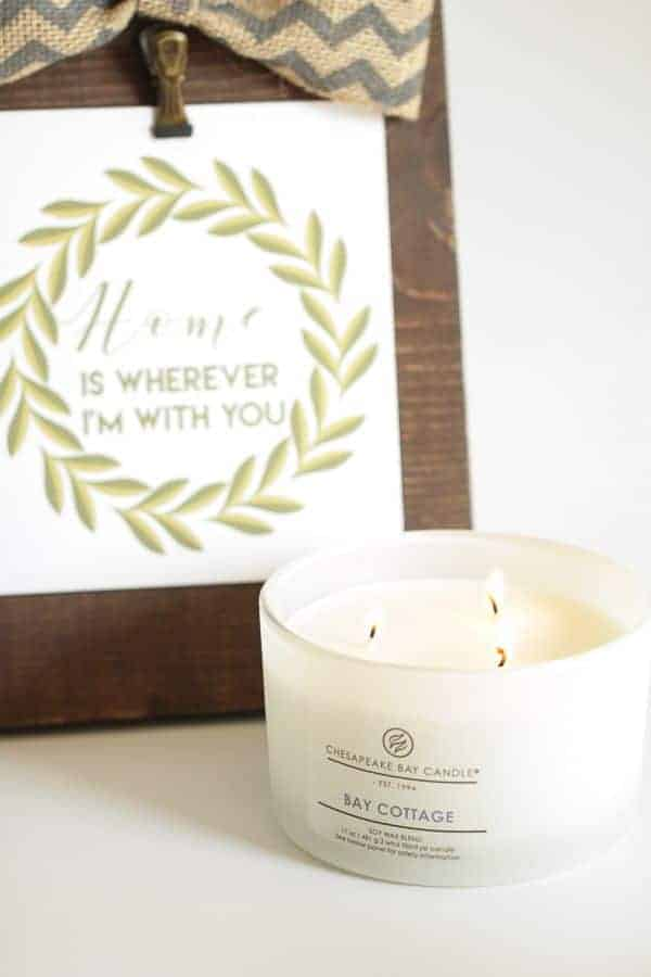 Chesapeake Bay Candles with free Home Decor Printable