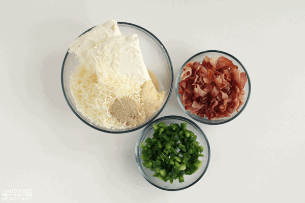 ingredients for bacon jalapeno cheeseball