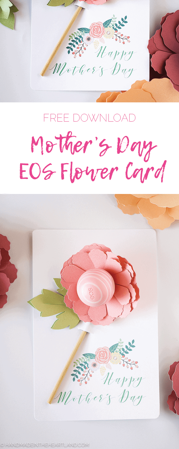 EOS Mother's Day gift paper flower cards