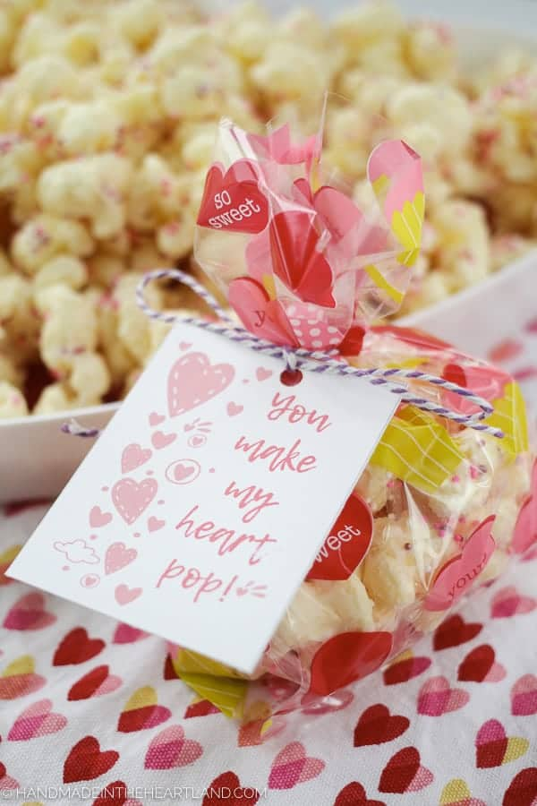 free valentine popcorn printable card