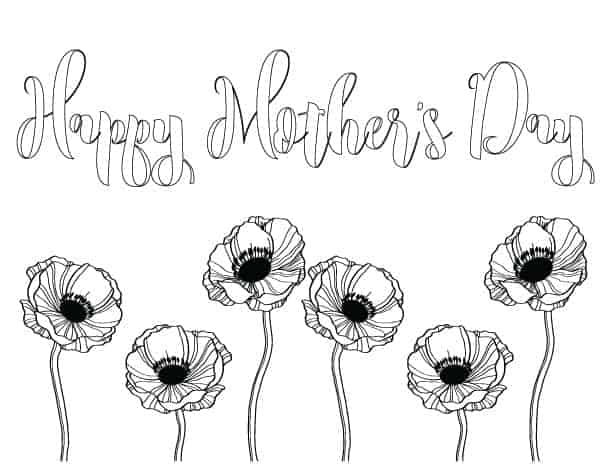 Mother's Day coloring pages for kids or adults to enjoy!