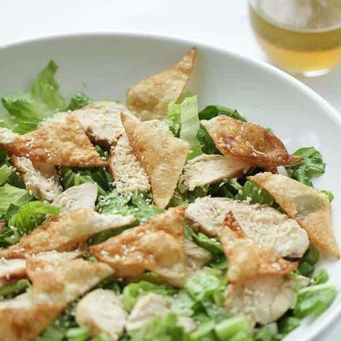 Chicken wonton salad