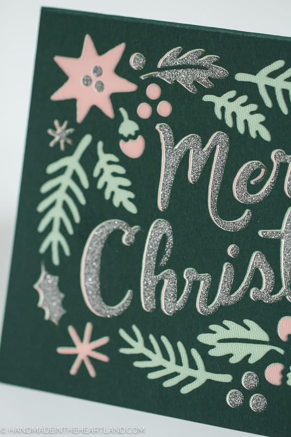 4 page layered cut out Christmas Card with Cricut