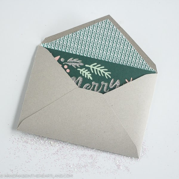 how to make a lined paper envelope at home
