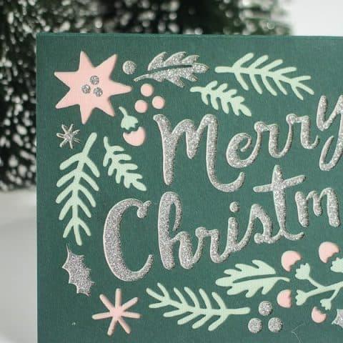 4 Layer Paper Cricut Christmas Card