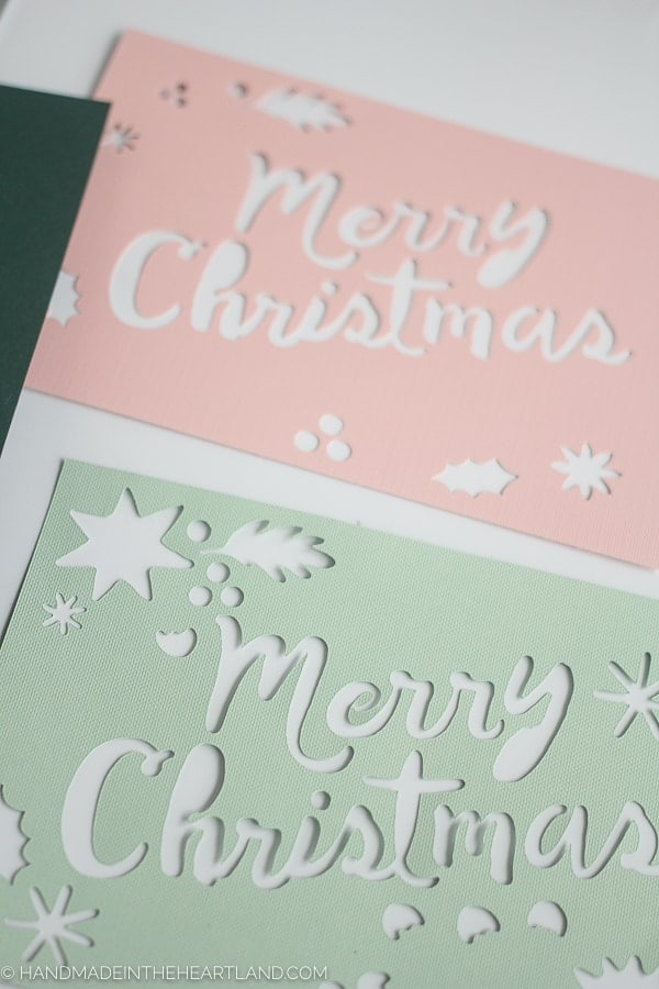 Cutting beautiful Christmas cards with the Cricut explore.