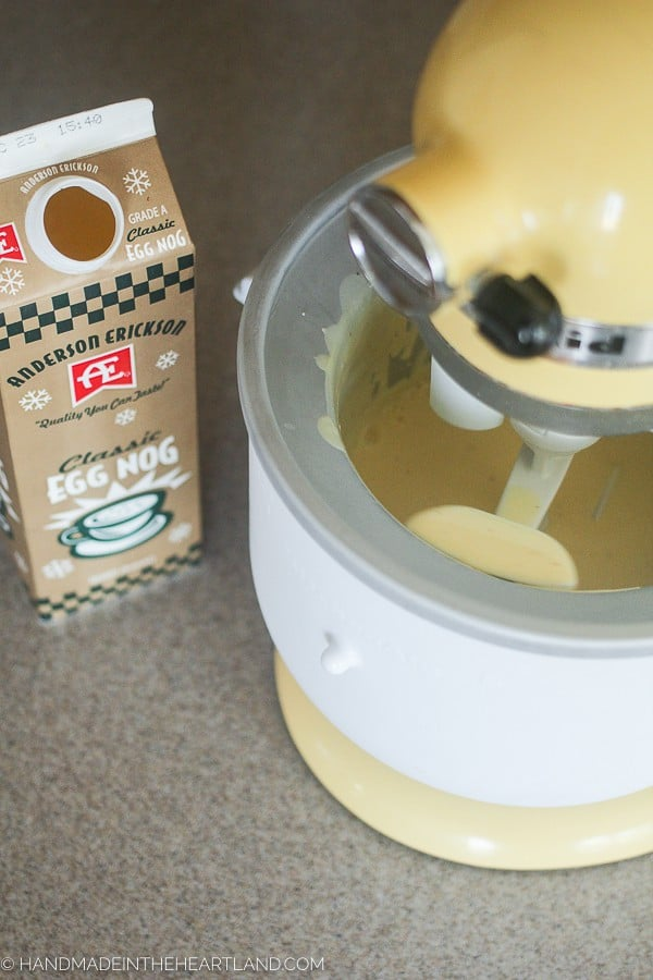 making eggnog ice cream at home