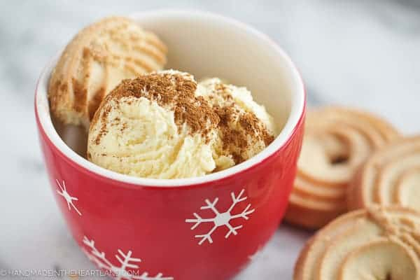 easy to make homemade eggnog ice cream