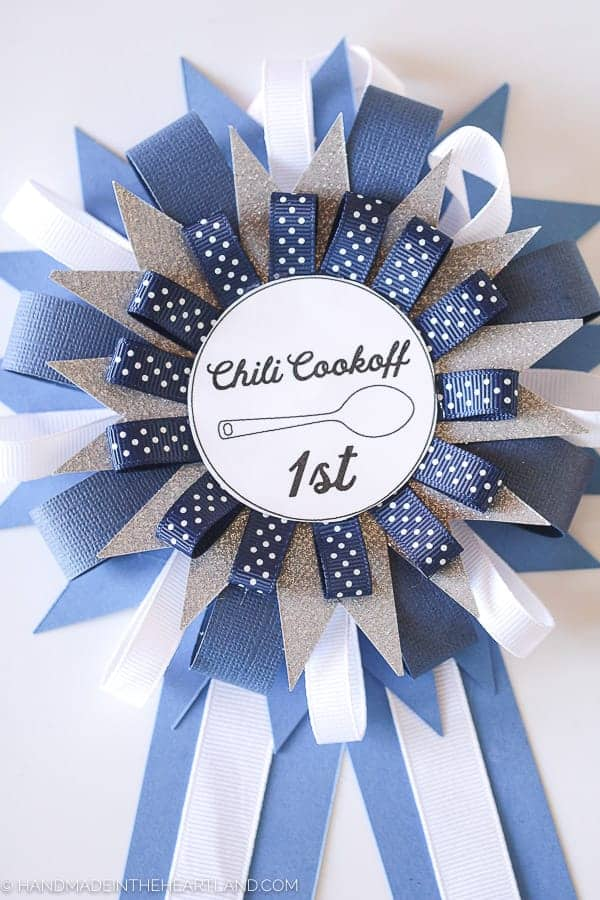 1st place chili cook off prize ribbon