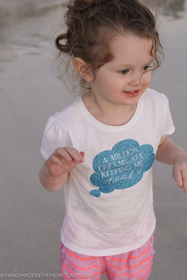 Toddler wearing DIY Greatest Showman quote tshirt, DIY Greatest Showman T-shirt