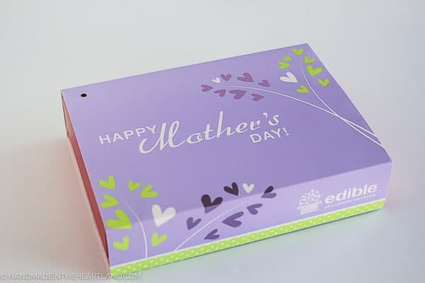 Edible Arrangements Mother's Day box with chocolate covered straweberries