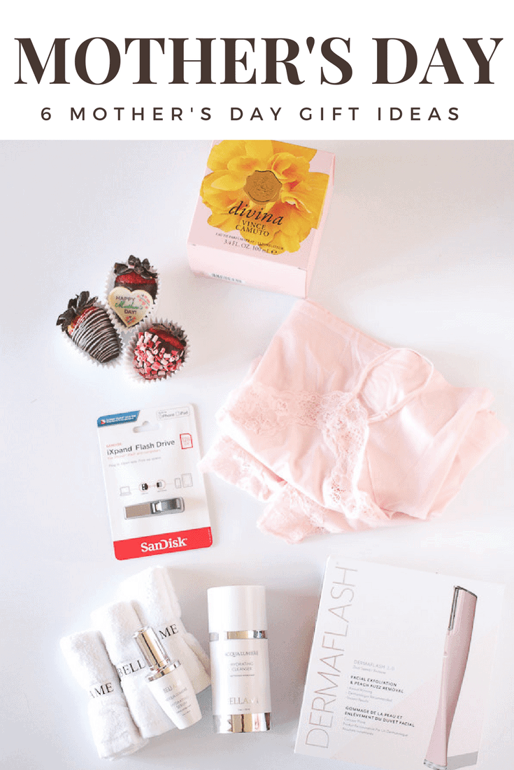 6 Mother's Day Gift Ideas that your mom will love! skincare, chocolate, perfume, loungewear and technology that she's sure to enjoy! Get discount codes and details on the best Mother's Day gifts.