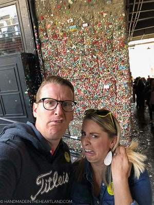 Gum wall in Pike Place Market, Seattle