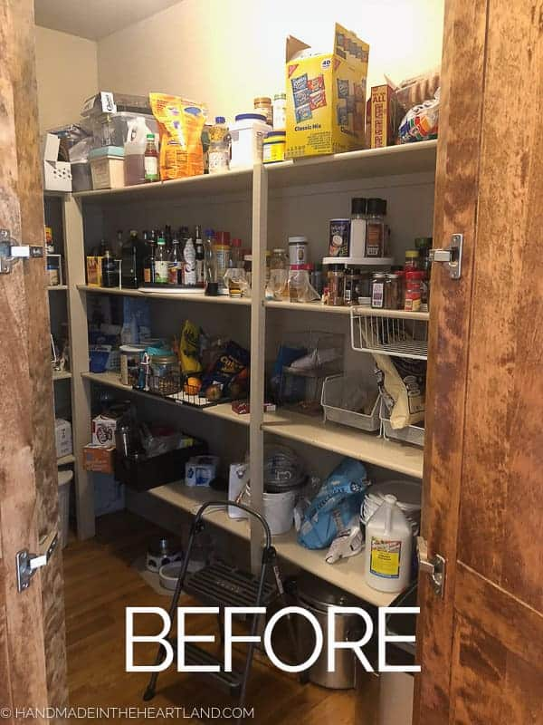 Image of before pantry organization