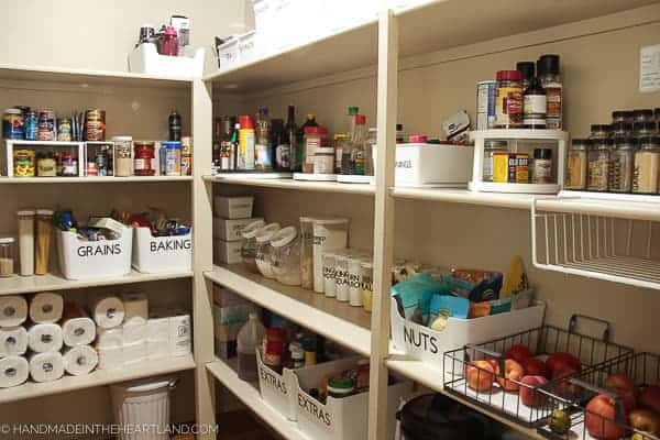Nicely organized pantry photo