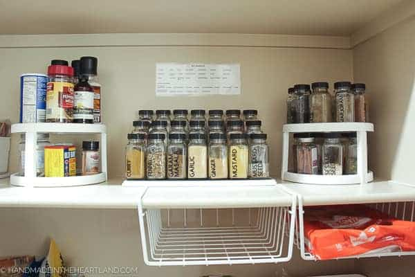 Image of organized spices in pantry
