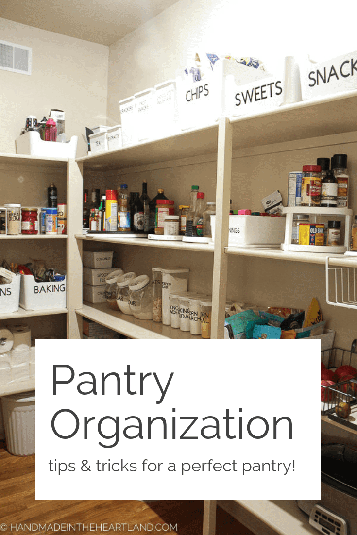 Image of nicely organized pantry