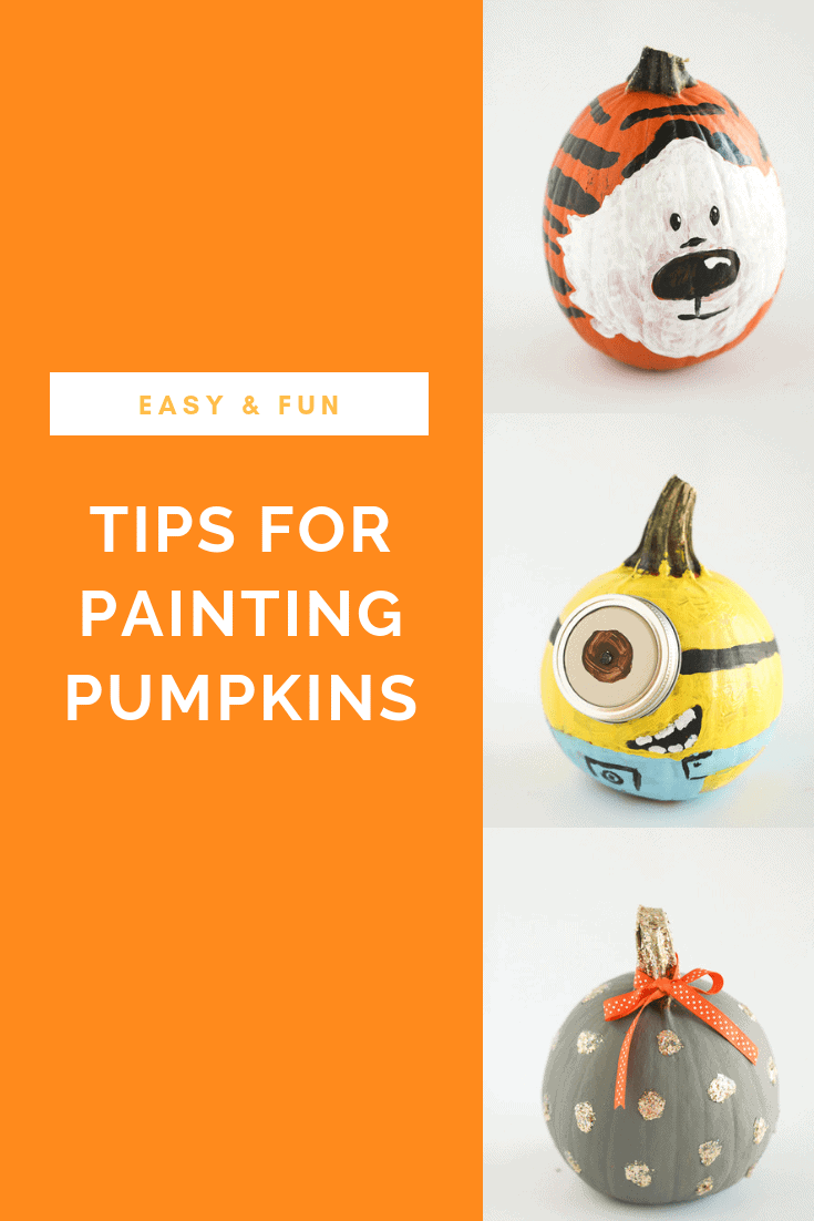 I love the no carve solution to having fun with pumpkins- painted pumpkins! As a family with small children this is the ideal option for everyone to get involved and have fun at Halloween. I've got several tips for painted pumpkins in this post!