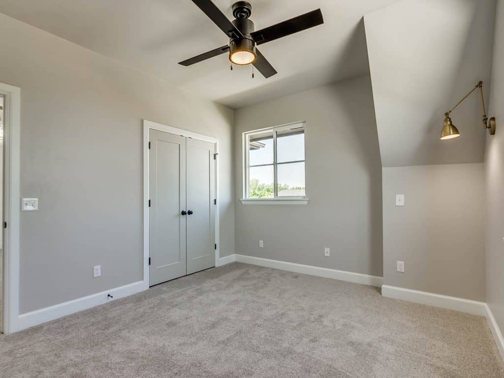 Bedroom painted agreeable gray