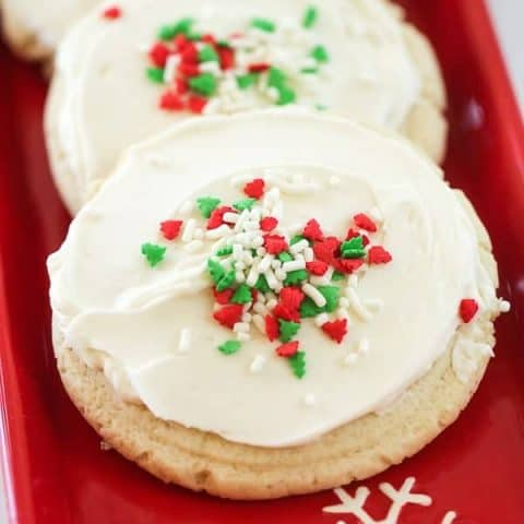 Frosted Sour Cream Cookies