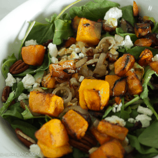 Roasted Butternut Squash Salad with Maple Dijon Dressing